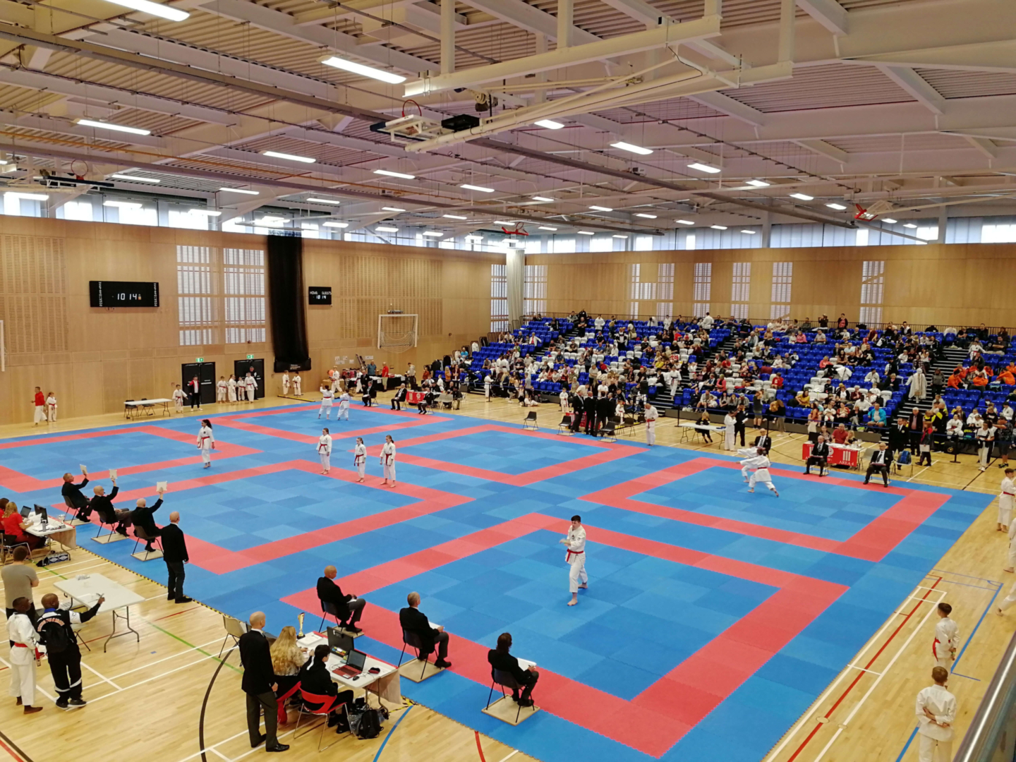 Indoor sports arena with 6 stages for wado karate
